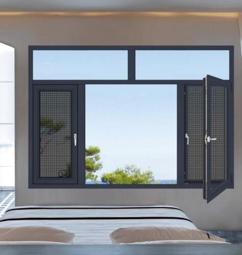 铝合金门窗十大品牌比思特波伊斯(断桥)窗纱一体平开窗
