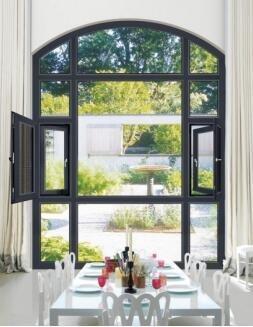 铝合金门窗十大品牌比思特的奥本(断桥)窗纱一体平开窗系列
