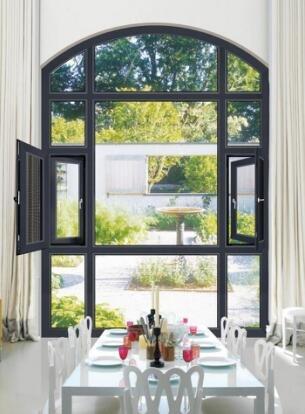 铝合金门窗十大品牌比思特奥本(断桥)窗纱一体平开窗系列