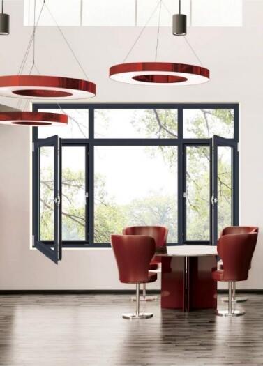 铝合金门窗十大品牌伯克(断桥)窗纱一体平开窗系列
