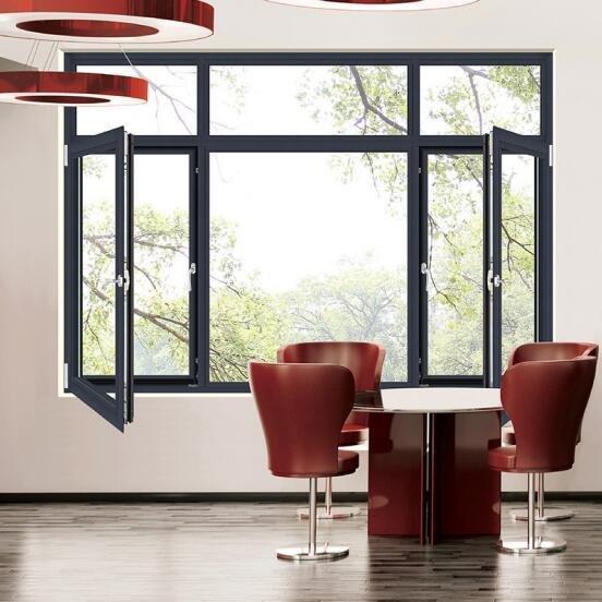 铝合金门窗十大品牌比思特伯克(断桥)窗纱一体平开窗系列