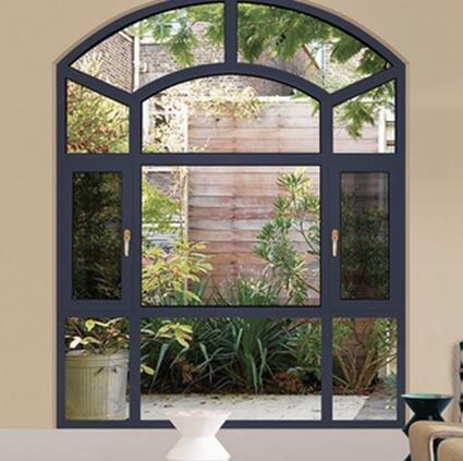 铝合金门窗十大品牌比思特蒂龙(断桥)窗纱一体化平开窗系列
